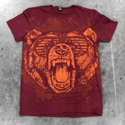 All Over printing Bear Shirt